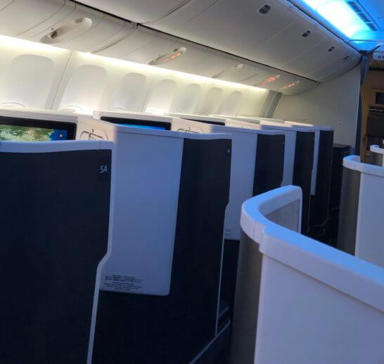 JAL国際線ビジネスクラスの窓際席