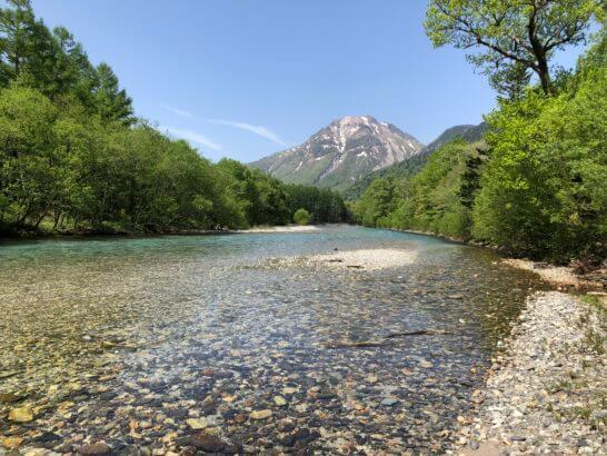 上高地の川