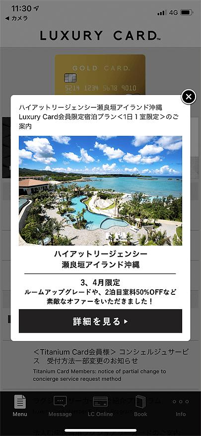 ハイアット リージェンシー 瀬良垣アイランド 沖縄のラグジュアリーカード下院限定優待プラン (2)
