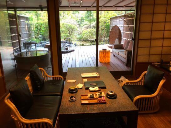 箱根吟遊の部屋・客室露天風呂