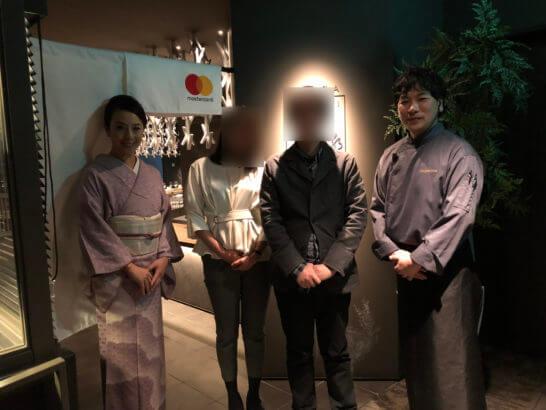Mastercardで日本酒の世界に酔いしれる夜の記念撮影
