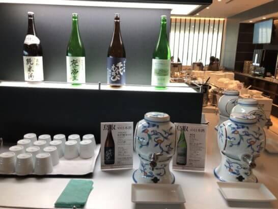 ANAラウンジ(羽田空港国際線)の日本酒