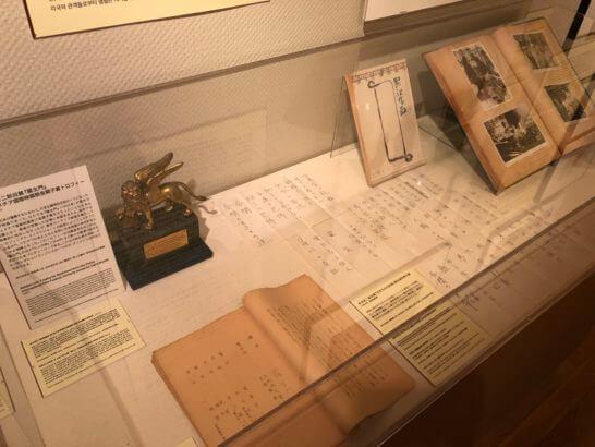 国立映画アーカイブ7F展示室の黒澤明さんの記録
