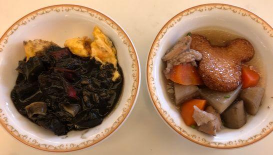 東京ディズニーランドホテルの朝食(オムレツカレーと煮物)