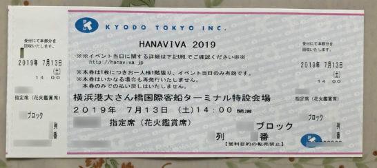 アメックス HANAVIVA 2019のチケット