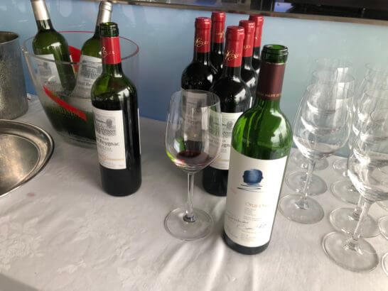 アメックス花火大会2019 HANAVIVA VIPルームのワイン・オーパス・ワン