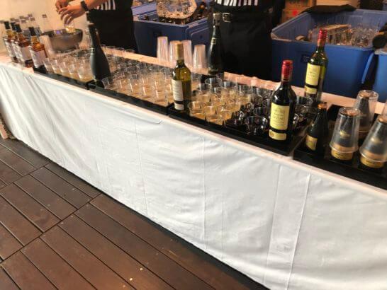 アメックス花火大会2019 HANAVIVAのアルコールコーナー