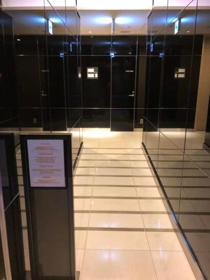 ANAラウンジ(羽田空港国際線)のシャワールームへの通路
