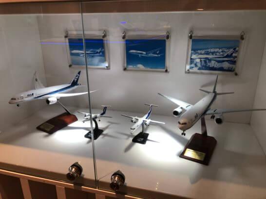 ANAラウンジ 羽田空港国内線(本館南)に展示されている模型