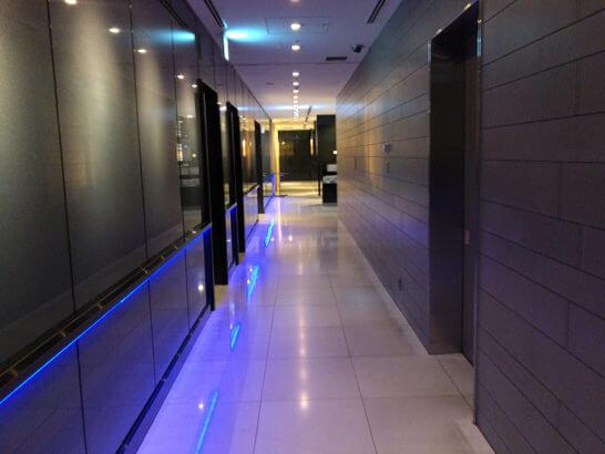 ANAラウンジ(羽田空港国際線)の廊下