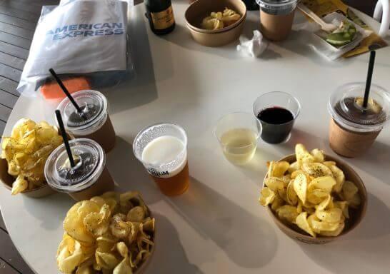 アメックスの横浜花火大会「HANAVIVA 2019」の食事