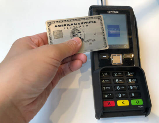 American Express Contactlessでのタッチ決済