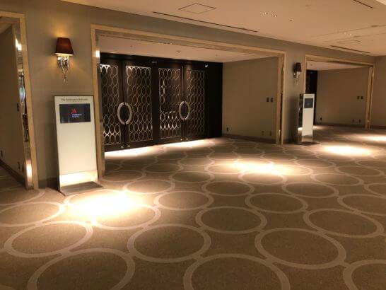 東京マリオットホテルのザ・ゴテンヤマ ボールルーム