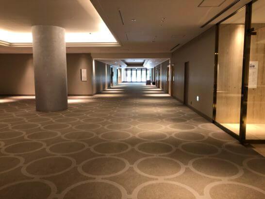 東京マリオットホテルの大宴会場B1フロア