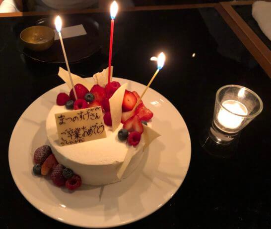 六本木ヒルズクラブのケーキ