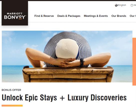 マリオットボンヴォイのキャンペーン「Unlock Epic Stays + Luxury Discoveries」
