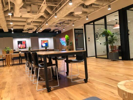 WeWorkのオフィス