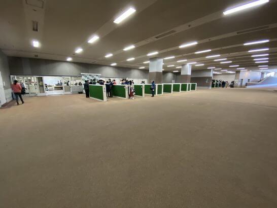 東京競馬場の地下馬道