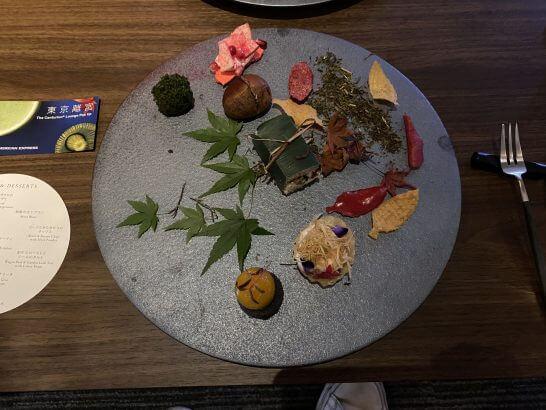 東京離宮 アメックス センチュリオンラウンジの食事