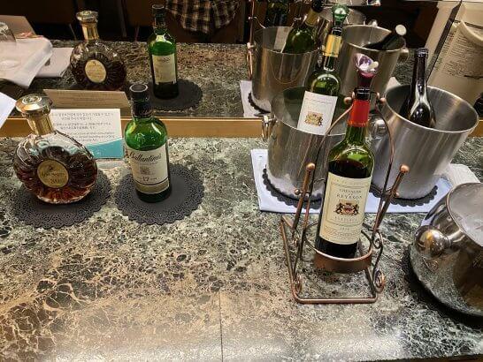 関空KALラウンジの洋酒・ワイン・日本酒