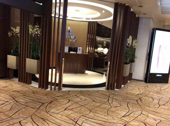 シンガポールのチャンギ国際空港のクリスフライヤーゴールドラウンジ