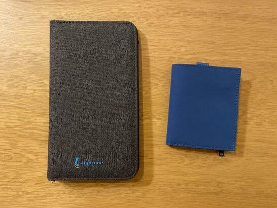 スキミング防止機能がある海外旅行用パスポートケース、小さなお財布