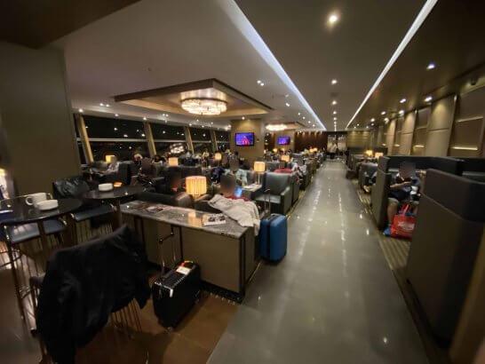 クアラルンプールのPlaza Premium Loungeの室内