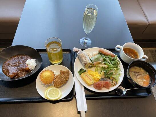 成田空港サクララウンジの食事(朝食)