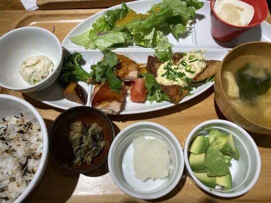 ルミネの和食レストランでの食事