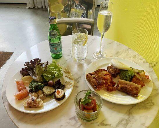 JWマリオットシンガポールのクラブラウンジの食事(カクテルタイム)