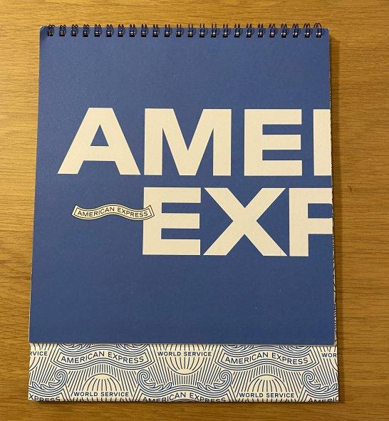アメックスのカレンダー