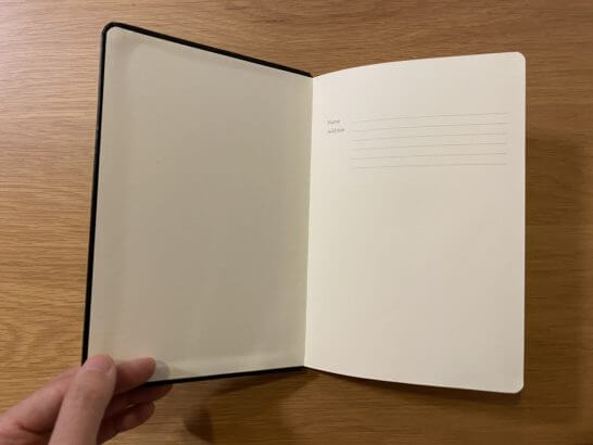 アメックスセンチュリオンのノートの中身 (1)