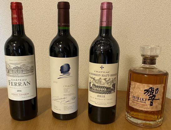 オーパスワン、シャトーラ・ミッションオー・ブリオン、赤ワイン、響ブレンダーズチョイス