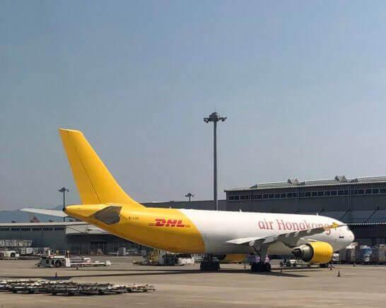 DHLの飛行機