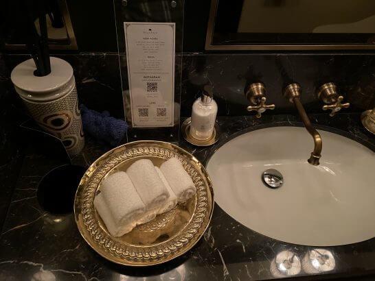 VILLA FOCH GINZAのトイレのお手拭き