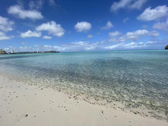 グアムのビーチ(ウエスティンホテルのプライベート)