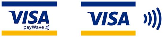 Visaのタッチ決済を使える店舗のマーク