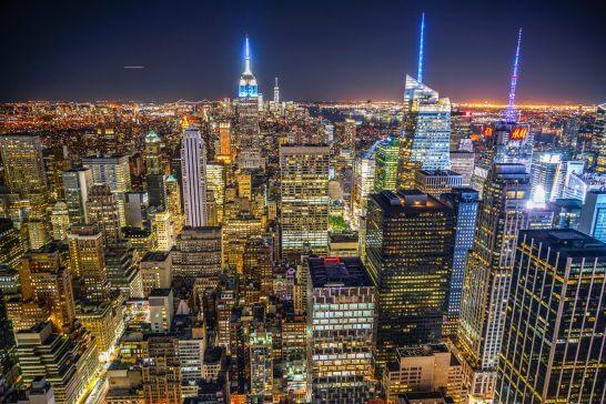 トップ・オブ・ザ・ロック(ロックフェラーセンター展望台)からの夜景
