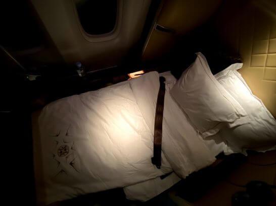 シンガポール航空のファーストクラス (ベッド)