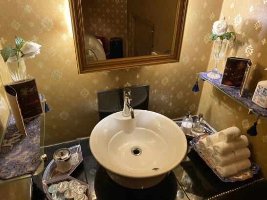 VILLA FOCH 西麻布のトイレの洗面台