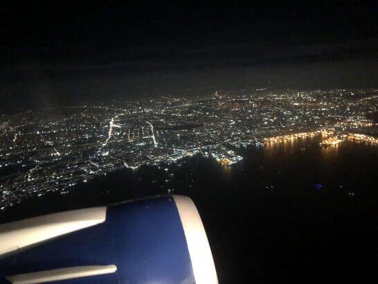 フィリピン・マニラの上空(デルタ航空の機内)