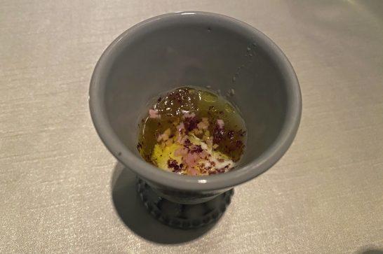 シャングリ・ラホテル東京のピャチェーレのウェルカムアミューズ
