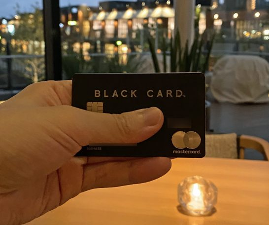 ラグジュアリーカード ブラック in インターコンチネンタル横浜Pier8のLarboard