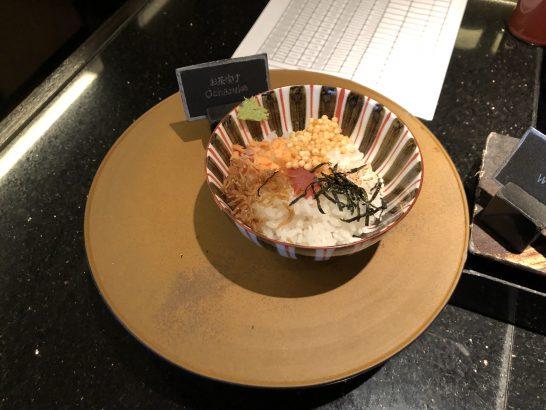 ザ・リッツ・カールトン東京のクラブラウンジのお茶漬け