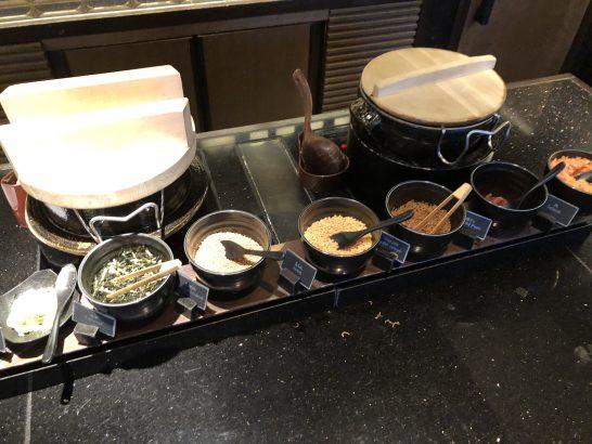 ザ・リッツ・カールトン東京のクラブラウンジのお茶漬けコーナー