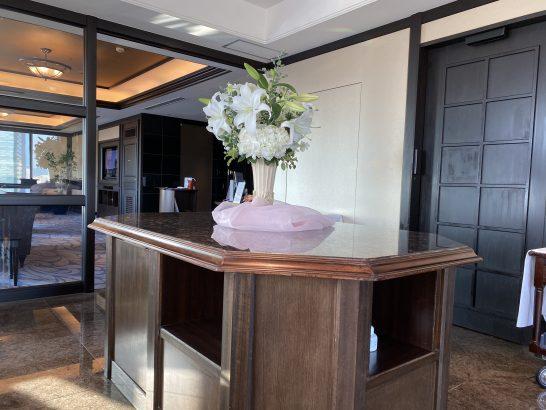 ウェスティンホテル大阪のエグゼクティブクラブラウンジの花