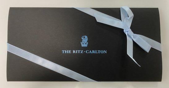 ザ・リッツ・カールトンのバウチャーの包み