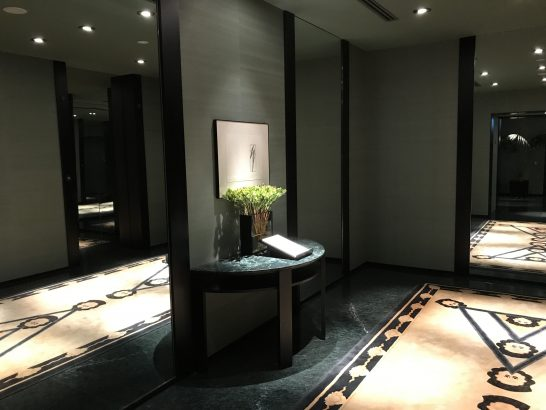パークハイアット東京の廊下