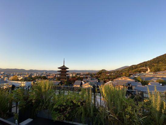 ザ・ホテル青龍 京都清水のK36 Rooftopからの眺め