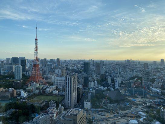 東京エディション虎ノ門のスーペリアスイートからの景色